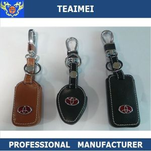 Genuine Leather Remote Key Case Holder Car Key Case With Keychain For Toyota