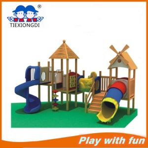 Best Selling Outdoor Wooden Playground Slide for Kids pictures & photos