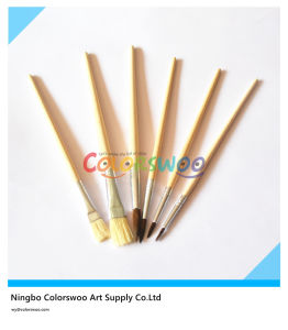 6PCS Wooden Handle Animal Fiber Artist Brush for Painting and Drawing (wooden color) pictures & photos