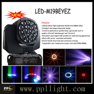 19PCS 15W 4in1 LED Bee Eye Zoom Beam Stage Lighting