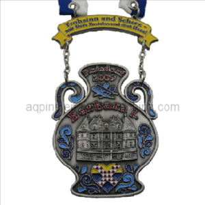 Soft Enamel Medal in Antique Silver Plating pictures & photos