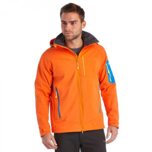 Mens Hoody Softshell Jacket in Orange Colour pictures & photos