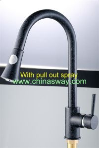 Granite Kitchen Sink Mixer with Movable and Tractable Spout (SW-09570-Q5) pictures & photos