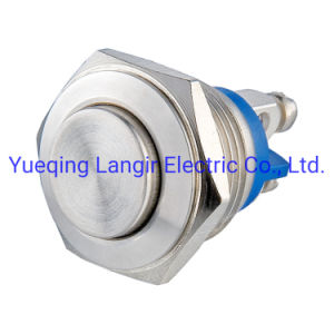 16mm High Flat Head Stainless Steel Waterproof Metal Button Switch