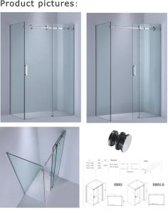 China 8mm10mm Glass Thickness Rectangle Bathtub Screensliding