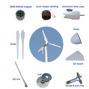Horizontal Axis 2kw Wind Power Generator for Home pictures & photos
