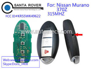 Keyless Entry Remote Control Car Key Fob Replacement 3 Button For Nissan  Murano 370z 315MHz Kr55wk49622