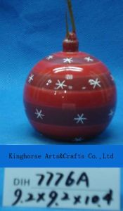 Christmas Tree Hanging Round Ceramic Ball pictures & photos