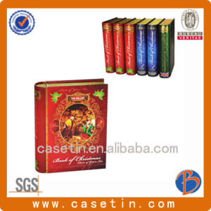 Book Shape Tin for Tea Package or Promotion