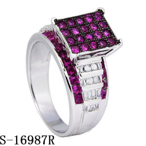 High End Model Diamond Ring Silver Jewelry Hotsale pictures & photos