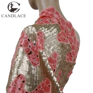 Fashion Design New Arrival Organza Sequence Lace Fabric pictures & photos