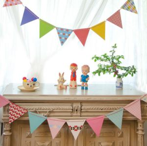 Full Color Two Sided String Pennant Bunting for Birthday Party pictures & photos