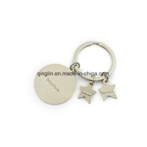 Metal Five-Pointed Stars Keychain Key Holder Key Ring