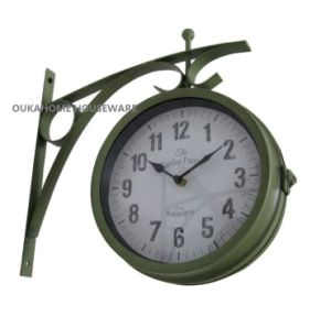 Antique Double Sided Outdoor Metal Wall Clock