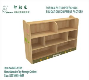 China Wooden Toy Storage Cabinet For Kindergarten Preschool