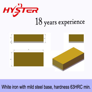 63HRC Bi-Metallic Wear Blocks Laminated pictures & photos