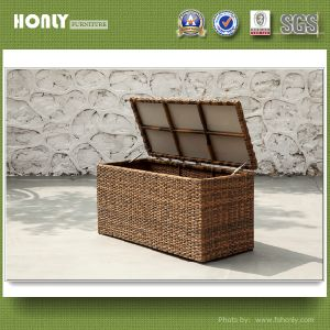 Modern New Design Wicker Box Hotel Metal Rattan Cushion Box