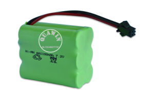 Ni-MH Batteries 7.2V 1100mAh Rechargeable Battery Pack pictures & photos