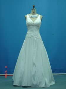 Real Sample Beaded Taffeta off Shoulder Wedding Gowns (WD0121) pictures & photos