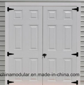 Fiberglass Doors with 6 Panel Design for Sheds (CHAM-AFD004)