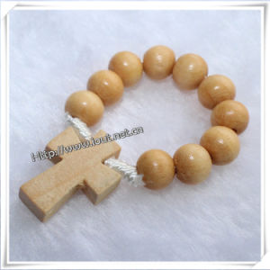 Wooden Beads Finger Rosary with Religious Wooden Rosary Cross (IO-CE003) pictures & photos