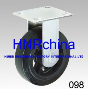 Black Rubber Wheel Heavy Duty Caster pictures & photos