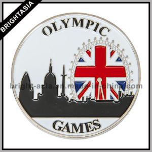 Custom 2D Metal Commemorative Coin with Two Sides Logo (BYH-10795) pictures & photos