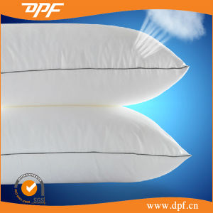 Soft Peached Poly/Cotton Shell with Polyester Fiber Filling Hotel Pillow pictures & photos