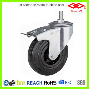 200mm Swivel Plate Rubber Garbage Bin Castor (P101-31C200X50) pictures & photos