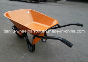 Construction Wheel Barrow Wb6400 with Solid or Air Wheel pictures & photos