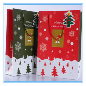various good quality christmas tree and snow large paper gift bag store packaging shopping bag