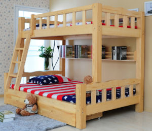 Simple Style Solid Wood Bunk Bed (M-X1013) pictures & photos