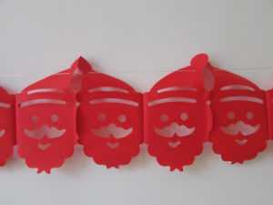 Santa Claus Paper Garlands for Christmas Decoration