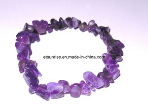 Semi Precious Stone Fashion Crystal Amethyst Chips Bracelet pictures & photos