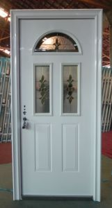 Exterior Steel Door with Glass Design