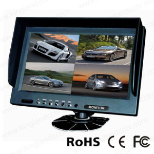 9 Inch TFT LCD Stand Alone Quad Monitor