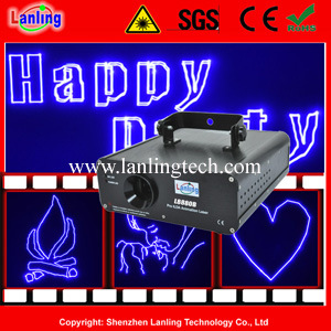 1W Programmable Blue DJ Laser Light Show Beam Light pictures & photos
