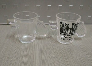Gun Handle Shot Glass, 1.5oz Gun Handle Clear Glass