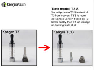 Kanger T3s 3ml Kangertech T3s Clearomizer pictures & photos