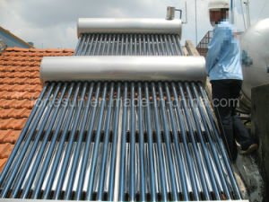 Low Pressure Compact Stainless Steel Solar Water Heater pictures & photos
