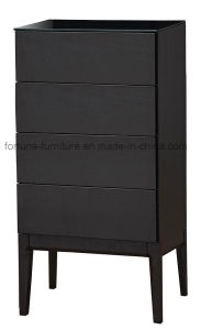 Wooden Chest of Drawers with Termpered Glass and Solid Wood Plinth (N combination 6)