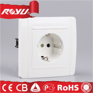 European CE 16A Grounding and Earthing Schuko Wall Socket pictures & photos