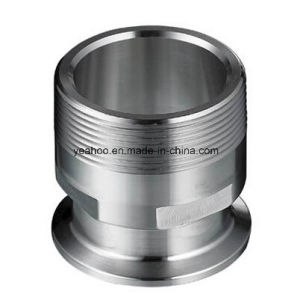 Sanitary Stainless Steel Clamp Male Adapter NPT 21MP