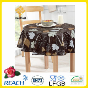 PVC Printed Tablecloth/Oilcloth LFGB Oko-Tex Wholesale China Factory pictures & photos