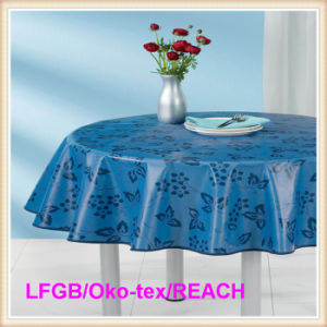 Vinyl Plastic /PVC Printed Table Cloth with Nonwoven Backing in Roll Tj-0133A pictures & photos