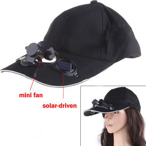 Cotton Baseball Cap with Solar-Driven Min Fan pictures & photos