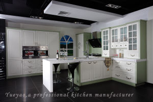 China New Design Pvc Modular Kitchen Furniture P001 China Kitchen Cabinet Kitchen Furniture