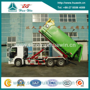 Sinotruk HOWO 6X4 Hooklift Garbage Truck pictures & photos