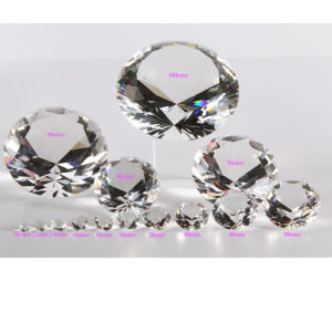 Shinning Transparent Crystal Glass Diamond for Paperweight pictures & photos