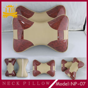 Leather with Wooden High Quality Car Neck Pillow